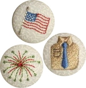 Summer Holiday Button Covers