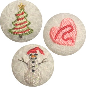 Winter Holiday Button Covers